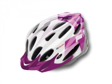 Šalmas B-Skin Regular white/violet, snapelis violet L