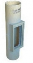 Fireclay liner for cleaning opening FIBO D140 x 220 x 667 mm