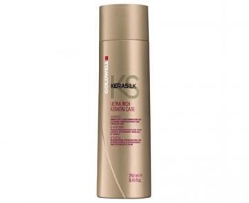 Šampūnas plaukams Goldwell Keratin rich shampoo for damaged hair Kerasilk (Ultra Rich Keratin Care Shampoo) 250 ml Šampūnai plaukams