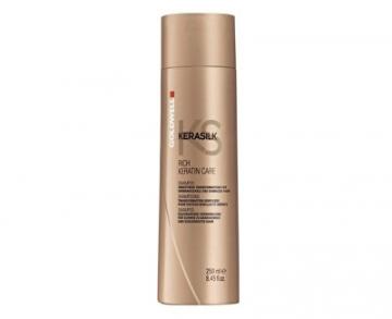 Šampūnas plaukams Goldwell Regenerative keratin shampoo for dry and damaged hair Kerasilk (Rich Keratin Care Shampoo) 250 ml Šampūnai plaukams
