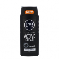 Šampūnas plaukams Nivea Men Active Clean Shampoo Cosmetic 250ml Šampūnus, matu