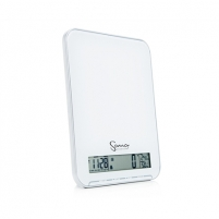 SANA Electronic kitchen scale, Large LCD display, Calendar, Clock, Alarm clock, Thermometer, Hygrometer, Max. load 10 kg