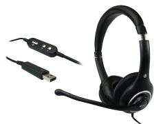 Sandberg ausinės su mikrofonu Plug'n Talk Headset Black