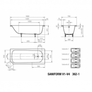 Saniform V4 vonia 160X70X41cm