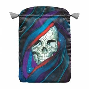 Santa Muerte Skull satininis maišelis kortoms