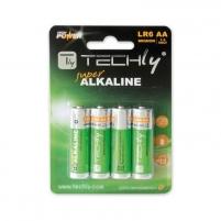 Šarminė baterija Techly 1.5V AA LR6 4 vnt. Baterijos, elementai, įkrovikliai