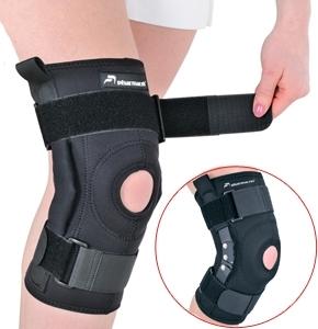Šarnyrinis kelio įtvaras Pharmacels Hinged Knee Brace SM Judėjimą lengvinančios priemonės