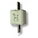 Saugiklis pramoninis peilinis, 100A, WT-2/gG, 500V, ETI 04114326