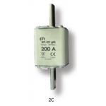 Saugiklis pramoninis peilinis, 125A, WT-2C/gG, 500V, ETI 04114228 Rūpniecības drošinātāji