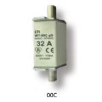 Saugiklis pramoninis peilinis, 25A, WT-00C/gG, 500V, ETI 04111432