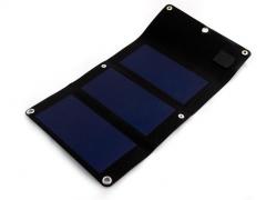 Saulės energijos įkroviklis PowerNeed 3W - USB 5V, 630mA