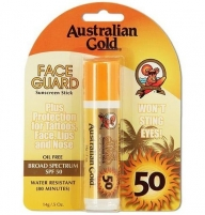 Saulės kremas Australian Gold Face Guard Sunscreen Stick SPF50 Cosmetic 14g Saulės kremai