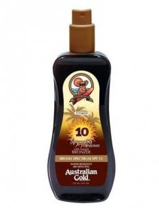 Saulės kremas Australian Gold Sunscreen Spray Gel Bronzer SPF10 Cosmetic 237ml Saulės kremai