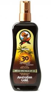 Saulės kremas Australian Gold Sunscreen Spray Gel Bronzer SPF30 Cosmetic 237ml Saulės kremai