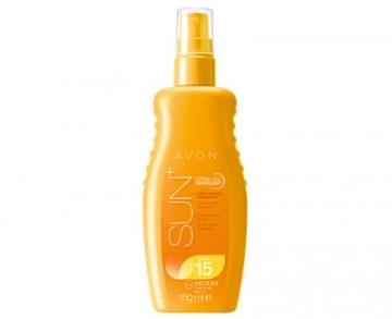 Saulės kremas Avon Waterproof Moisturizing lotion spray for Sensitive Skin SPF 15 + Sun 150 ml Saulės kremai