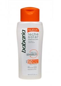Sun krēms Babar Sun Milk Sensitive Skin SPF50 Cosmetic 200ml Saules krēmi