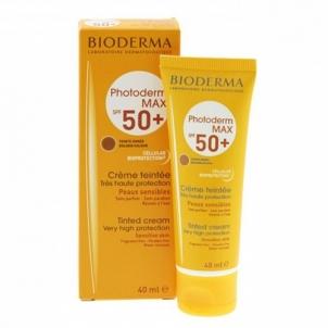 Saulės kremas Bioderma Tinted Cream for Sensitive Skin SPF 50+ Photoderm MAX (Tinted Cream Very Hight Protection) 40 ml Saulės kremai