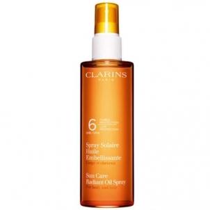 Saulės kremas Clarins Sun Care Radiant Oil Spray SPF 6 For Body and Hair 150 ml Saulės kremai