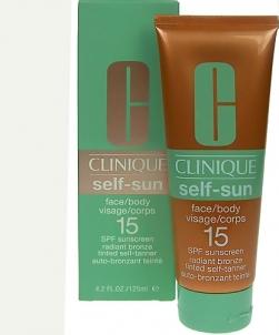 Saulės kremas Clinique Self Sun Face/Body SPF15 Cosmetic 125ml Saulės kremai