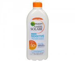 Saulės kremas Garnier Ambre Solaire Sensitive Advanced SPF 50+ Tanning Lotion for Sensitive Skin 400ml Saulės kremai