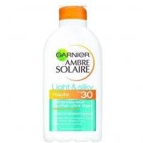 Saulės kremas Garnier Ambre Solaire SPF 30 Light & Silky 200ml Saulės kremai