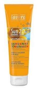 Sun cream Lavera Sun Lotion for baby and children SPF15 Cosmetic 125ml Sun creams