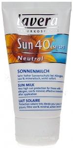 Sun Cream Lavera Neutral Sun Milk SPF 40 Cosmetic 50ml Sun creams