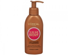 Saulės kremas Loreal Paris Sublime Bronze Self-tanning lotion for face and body 150 ml Saulės kremai