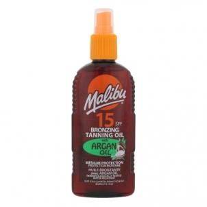 Saulės kremas Malibu Bronzing Tanning Oil SPF15 Argan Oil Cosmetic 200ml Saulės kremai