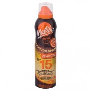 Saulės kremas Malibu Continuous Spray Dry Oil Spray SPF15 Cosmetic 175ml Saulės kremai