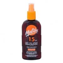 Saulės kremas Malibu Dry Oil Spray SPF15 Cosmetic 200ml Saulės kremai