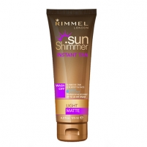 Saulės kremas Rimmel Waterproof tanning lotion SunShimmer (Instant Tan Water Resistant Matte) 125 ml Saulės kremai