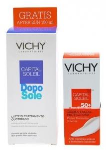 Saulės kremas Vichy Capital Soleil SPF50 Duo Cosmetic 200ml Saulės kremai