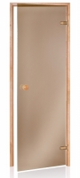 Saunos durys 7x21 SCAN bronze