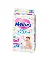 Sauskelnės MERRIES L 9-14kg 54vnt. Kūdikių higienos prekės, sauskelnės
