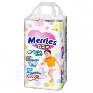 Sauskelnės MERRIES PBL 12-20kg 38vnt. Kūdikių higienos prekės, sauskelnės