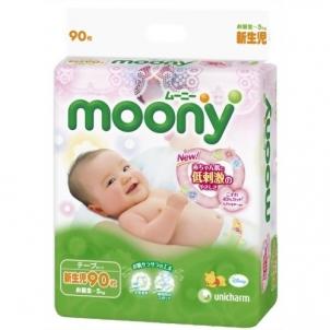 Sauskelnės MOONY NB 0-5kg 90vnt. Kūdikių higienos prekės, sauskelnės
