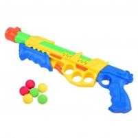 Šautuvas su minkštais šoviniais ir vandeniu, geltonas