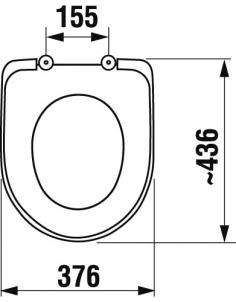Sėdynė su dangčiu LYRA BALTIC Citu vannasistabas aprīkojuma elementu