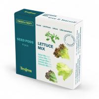 Sėklų rinkinys Tregren Fresh&Tasty Lettuce Mix, 4 seed pods: rucola, lollo Rosso, lettuce, little leprechaun, SEEDPOD89 Išmanūs vazonai, daigyklės