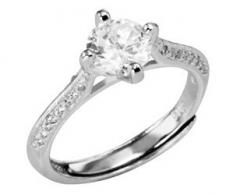 Selilya Silver sidabrinis ring su kristalu SRJ62