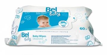 Servetėlės jautriai odai Bel Baby 60 vnt Kūdikių higienos prekės, sauskelnės