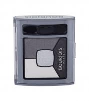 Šešėliai akims BOURJOIS Paris Smoky Stories Quad Eyeshadow Palette Cosmetic 3,2g 01 Grey & Night Šešėliai akims