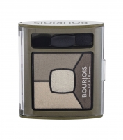 Šešėliai akims BOURJOIS Paris Smoky Stories Quad Eyeshadow Palette Cosmetic 3,2g 04 Rock This Khaki Šešėliai akims