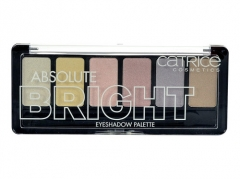 Šešėliai akims Catrice Absolute Bright Eyeshadow Palette Cosmetic 6g 010 Candy Warhol Šešėliai akims