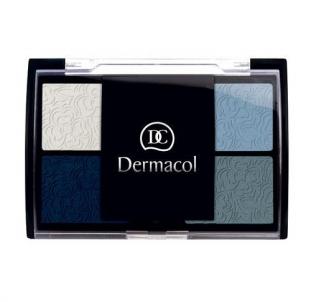 Šešėliai akims Dermacol Quattro Eye Shadow Cosmetic 5g For Blue Eyes Šešėliai akims