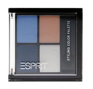 Šešėliai akims Esprit Styling Color Palette Eye Shadow Cosmetic 5g Aquatic Blue Šešėliai akims