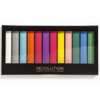 Šešėliai akims Makeup Revolution London Redemption Palette Matte Brights Cosmetic 14g Šešėliai akims
