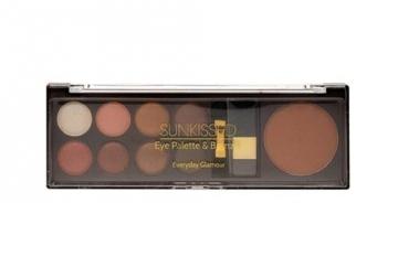 Šešėliai akims Makeup Trading Sunkissed Eye Palette Bronze Cosmetic 8g Everyday Glamour Šešėliai akims