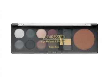 Šešėliai akims Makeup Trading Sunkissed Eye Palette Bronze Cosmetic 8g Smoky Eyes Šešėliai akims